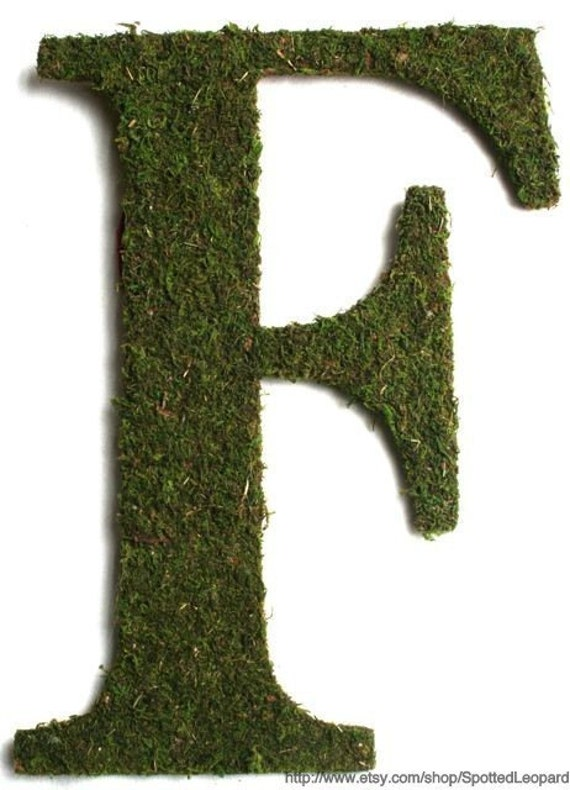 Moss Covered 24 inch WEDDING Church Door Initials Monogram Letters Wreath