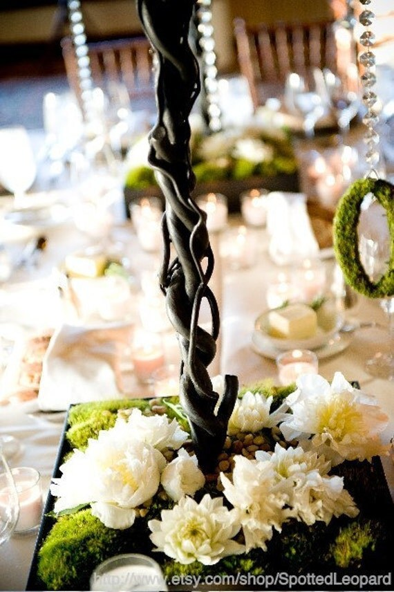 Moss Covered Wedding Table Numbers