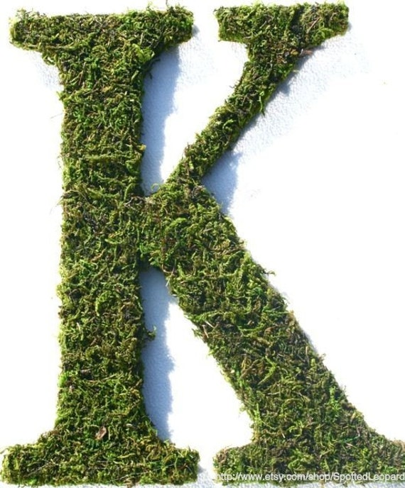 Moss Covered Letters: Items Similar To Moss Covered 12 Inch Initial Letter K On Etsy