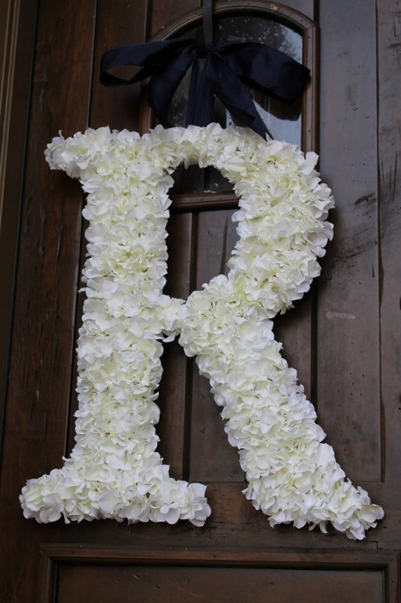 Hydrangea Covered Wedding Letter 24 Inch