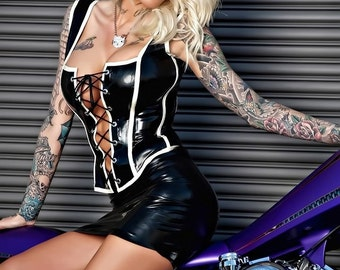 Short & Sexy Latex Mini Skirt, made-to-order in a range of colors and sizes