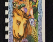 Strength/Seven of Staffs-Tarot card journal