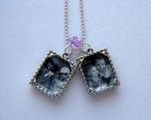 Double Photo Pendant Necklace