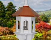 Bird Feeder, Copper Bird Feeders, Large Bird Feeder, Gazebo Bird Feeder, Painted Bird Feeders