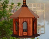 Bird Feeder, Copper Birdfeeder, Hanging Bird Feeder, Rustic Bird Feeder
