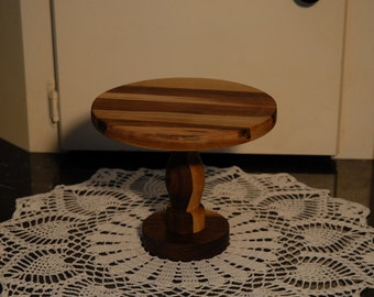 Cupcake Pedestal, Small Cake Stand, Wooden Display