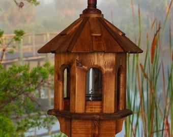 Bird Feeder, Wooden Bird Feeder, Posted Bird Feeder, Outdoor Bird Feeder, Primitive Bird Feeder, Rustic Bird Feeder, 5th Anniversary Gift