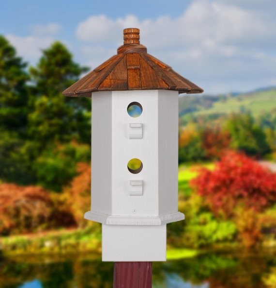 Song Birdhouse Shake Roof and White Bird House
