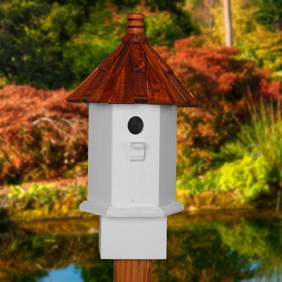 Painted Birdhouse Handcrafted For The Sweet Wren