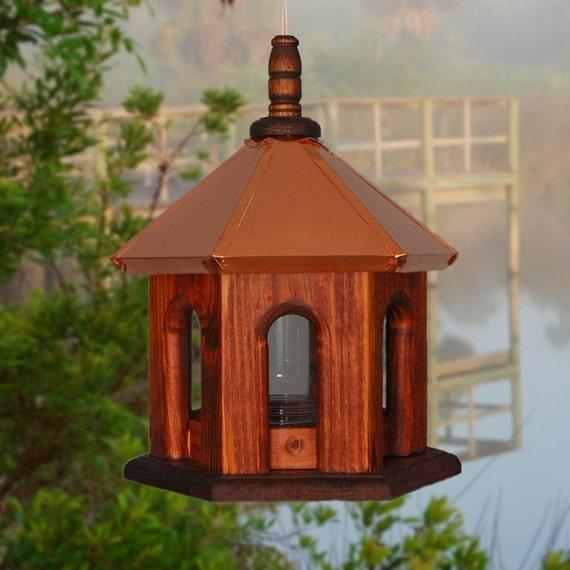 Bird Feeder, Copper Birdfeeder, Hanging Bird Feeder, Rustic Bird Feeder