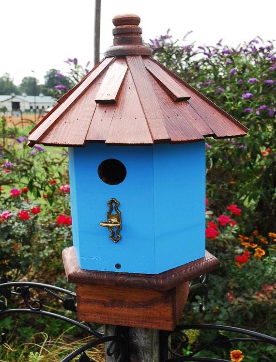 Bluebird House. Cottage Bird House, Wooden Birdhouses