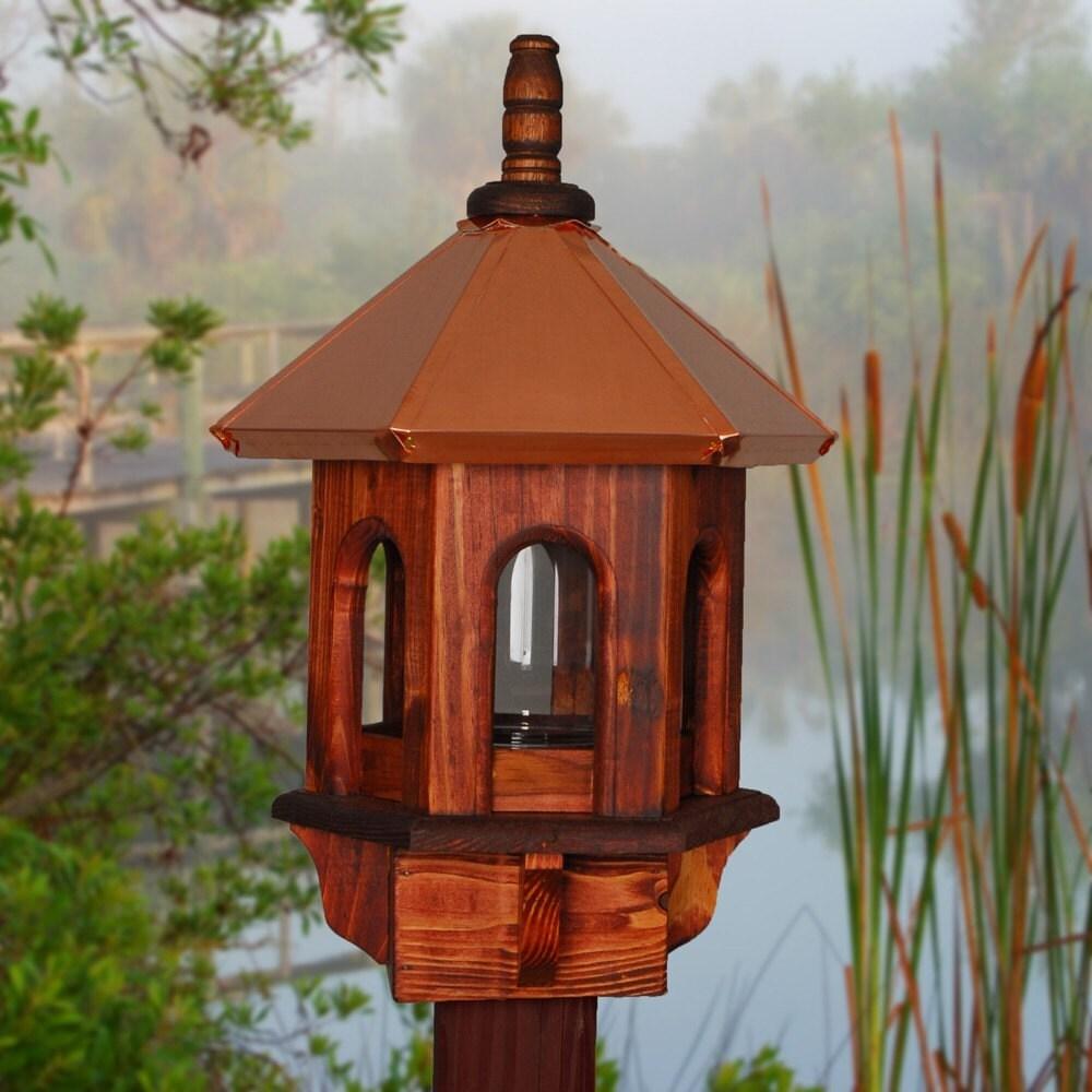 copper bird feeders woodlink coplantern brushed copper bird feeder atg stores pet copper. Black Bedroom Furniture Sets. Home Design Ideas