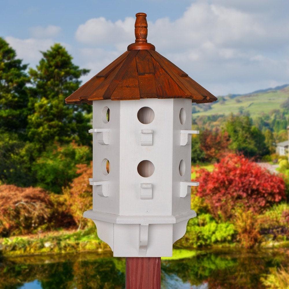 Wooden bird houses hand painted birdhouses purple martin
