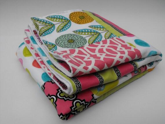 Soda Pop - a patchwork blanket (larger toddler size)