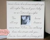 Wedding Photo Frame, Personalized Gift, Wedding Decoration, 20x20 Photo Frame, Wedding Vows, Song lyrics, Inspirational Quote, Engagement