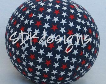 Balloon Ball - Red White and Blue Stars fabric - great kids TOY as seen with Michelle Obama on Parenting.com
