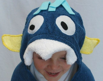 Blue Monster Hooded Towel -  Infant, Toddler, and/or Child