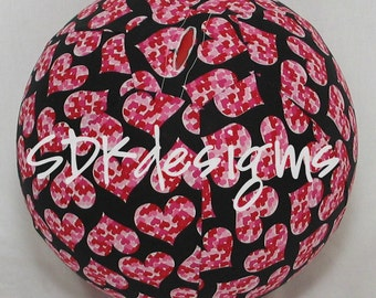 Fabric Balloon Ball TOY - I Love you Hearts  - Great KIDS item