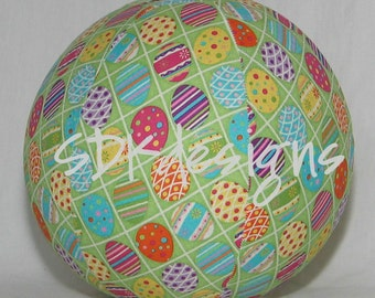 Colorful Glittery Easter Eggs - Fabric Balloon Ball Toy -  great toy for EASTER basket