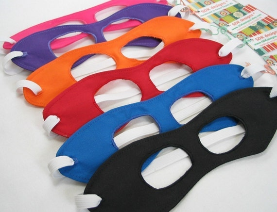 One Superhero Mask - You Choose the COLOR - great Birthday Gift, party favor or Photo Prop