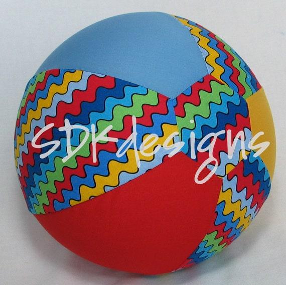 Balloon Ball TOY - Primary Colors RicRac Zig Zag