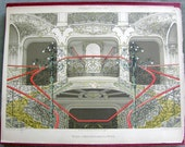 Architecture Chromolitho Print: Viennese Rococo Staircase from Moderne Architektur, 1890