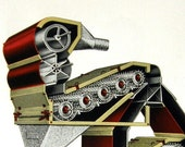 Steam B4 the Punk: Industrial Color Engraving, Matted 1927 Catalog Illustration by Forrest Kirkland