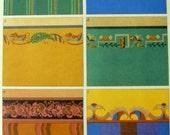 Authentic 1920s Paul Knothe Bauhaus Wallpaper Textile Design SerioLithograph Print
