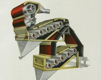 Steam B4 the Punk: Industrial Art Deco Catalog Illustration by Forrest Kirkland, Antique Steampunk 1927 Color Engraving