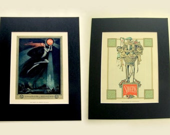 Roaring 20s Art Deco Litho Prints with Mat: Vintage Ads, Spirit of Modern Business & Success - Elements of Advertising