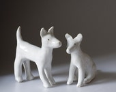 Ceramic Dog, Sitting down (imperfect, reduced price)