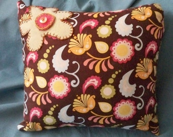 Flowers and Paisleys Everywhere Pillow