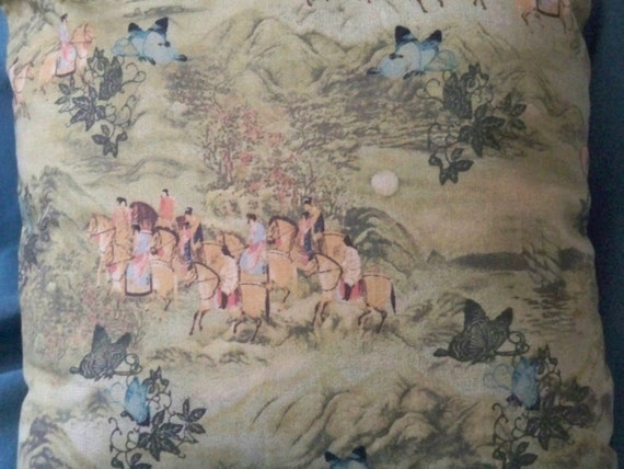 Set of Two Far East Toile Pillows