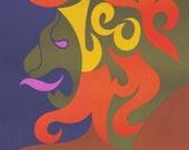 Giclee Print of 1969 Original Vintage Zodiac Poster - Leo