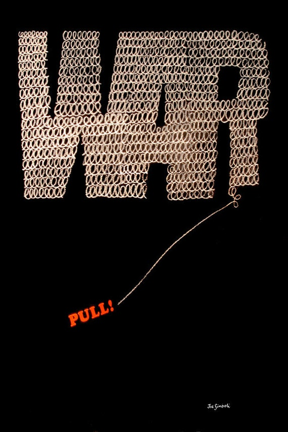 Giclee Print of Vintage Anti-War Poster from 1968