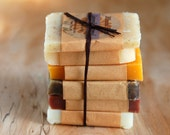 Organic Soap Sample Pack. Soap samples for guests or gifts. 6 travel soaps. Vegan soap. Natural and botanical.