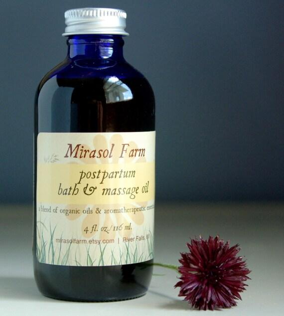 SALE Organic Postpartum Bath & Body Oil (4 ounces)