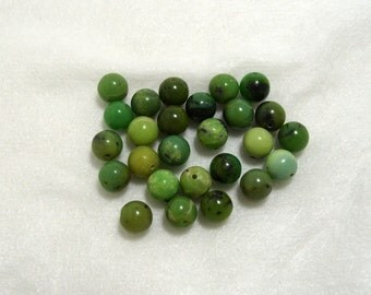 Half Strand Chinese Chrysoprase 8mm round Gemstones  (215)