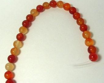 2 Dozen 10mm Round Red Agate Gemstones (224)