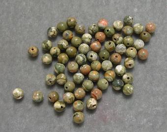 Full Strand 6mm Round Rhyolite Gemstones (197)