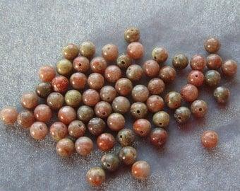 Full Strand of 6mm Autumn Jasper Beads  Gemstone (124)