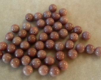 Full Strand of 8mm round Chocolate Jasper Gemstones (418)