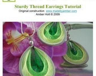 TUTORIAL-- Sturdy Thread Earrings