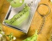 SALE  Two Peas in a Pod Keychain Favors  40 count