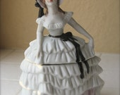 Vintage Southern Belle Lady Porcelain Powder Box
