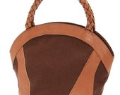brown day satchel