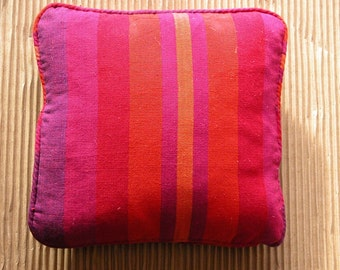 Crafted with love. Piped fabric mini scatter cushion