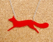 Fernando the Fox Red Acrylic Necklace - 25% off, slight seconds