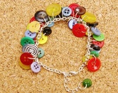 Olympic Rings Upcycled Button Bracelet