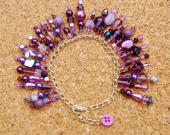 Purple Rain Beaded Bracelet